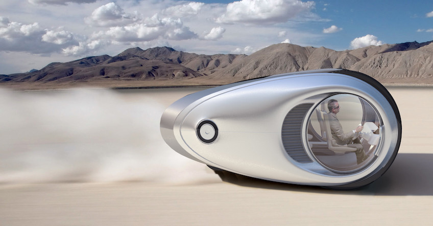 Camper Van Driving To The Future